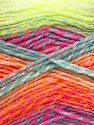 Fiber Content 100% Acrylic, White, Turquoise, Orange, Brand Ice Yarns, Green, fnt2-67947