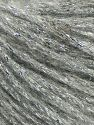 Fiber Content 7% Viscose, 56% Metallic Lurex, 20% Acrylic, 17% Wool, Silver, Light Grey, Brand Ice Yarns, fnt2-67952