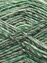 Fiber Content 9% Viscose, 62% Acrylic, 19% Alpaca, 10% Wool, Brand Ice Yarns, Grey Shades, Green, fnt2-67988