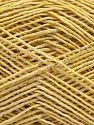 Fiber Content 50% Cotton, 38% Nylon, 12% Metallic Lurex, Light Green, Brand Ice Yarns, Cream, fnt2-68405
