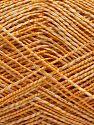 Fiber Content 50% Cotton, 38% Nylon, 12% Metallic Lurex, Brand Ice Yarns, Gold, Cream, fnt2-68406