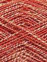 Fiber Content 50% Cotton, 38% Nylon, 12% Metallic Lurex, Red, Brand Ice Yarns, Cream, fnt2-68407