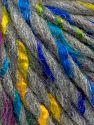 Fiber Content 85% Acrylic, 15% Wool, Rainbow, Light Grey, Brand Ice Yarns, fnt2-69004