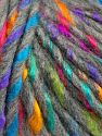 Fiber Content 85% Acrylic, 15% Wool, Rainbow, Brand Ice Yarns, Grey, fnt2-69007