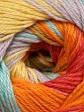 İçerik 100% Merserize Pamuk, Yellow, Orange Shades, Lilac, Light Turquoise, Brand Ice Yarns, fnt2-69532