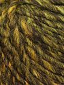 Vezelgehalte 50% Wol, 30% Acryl, 20% Alpaca, Brand Ice Yarns, Green Shades, Gold, Dark Brown, fnt2-69726