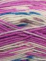 Contenido de fibra 75% Acrílico, 25% Lana, White, Orchid, Brand Ice Yarns, fnt2-69828