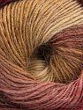 Vezelgehalte 60% Premium acryl, 20% Wol, 20% Alpaca, Brand Ice Yarns, Burgundy, Brown Shades, fnt2-69830