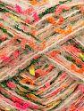 Fiber Content 32% Wool, 26% Acrylic, 21% Polyamide, 20% Polyester, 1% Elastan, Yellow, Pink, Orange, Brand Ice Yarns, Green, fnt2-70242