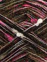 Fiber Content 33% Acrylic, 30% Nylon, 22% Wool, 15% Mohair, White, Pink Shades, Brand Ice Yarns, Gold, Black, fnt2-70267
