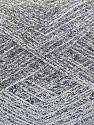 Fiber Content 50% Polyester, 50% Metallic Lurex, Silver, Brand Ice Yarns, fnt2-70435