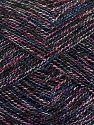Contenido de fibra 8% Poliéster, 50% Algodón, 30% Acrílico, 12% Metálicos Lurex, Pink, Navy, Brand Ice Yarns, Cream, Blue, fnt2-70436