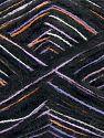 Fiber Content 85% Acrylic, 15% Polyester, White, Orange, Lilac, Brand Ice Yarns, Black, fnt2-70457