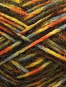 Fiber Content 48% Acrylic, 40% Wool, 12% Nylon, Yellow, Orange, Light Grey, Brand Ice Yarns, Gold, Black, fnt2-70459