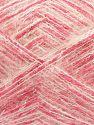 Contenido de fibra 64% Acrílico, 5% Metálicos Lurex, 20% Lana, 10% Poliamida, 1% Elastan, White, Silver, Pink, Brand Ice Yarns, fnt2-70460