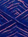 Contenido de fibra 64% Acrílico, 5% Metálicos Lurex, 20% Lana, 10% Poliamida, 1% Elastan, Silver, Saxe Blue, Pink, Brand Ice Yarns, fnt2-70464