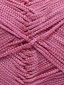 Width is 2-3 mm Fiber Content 100% Polyester, Rose Pink, Brand Ice Yarns, fnt2-70706