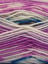 Fiber Content 75% Acrylic, 25% Wool, White, Orchid, Brand Ice Yarns, fnt2-70812
