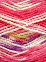 Fiber Content 75% Acrylic, 25% Wool, White, Pink, Brand Ice Yarns, fnt2-70813