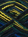 Vezelgehalte 50% Acryl, 50% Microvezel, Yellow, Brand Ice Yarns, Green Shades, Blue Shades, Black, fnt2-70882