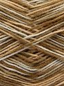 Fiber Content 100% Acrylic, White, Brand Ice Yarns, Brown Shades, fnt2-70888