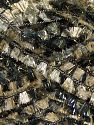 Fiber Content 90% Polyester, 10% Metallic Lurex, Brand Ice Yarns, Gold, Black, fnt2-70903
