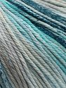 Fiber Content 100% Cotton, Turquoise Shades, Brand Ice Yarns, Beige, fnt2-70935