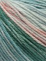 Fiber Content 100% Cotton, Turquoise Shades, Light Green Pink, Brand Ice Yarns, fnt2-70936