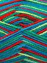 Fiber Content 100% Acrylic, Red, Brand Ice Yarns, Green Shades, Blue, fnt2-71064