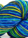 Please note that this is a hand-dyed yarn. Colors in different lots may vary because of the charateristics of the yarn. Also see the package photos for the colorway in full; as skein photos may not show all colors. Fiber Content 75% Superwash Merino Wool, 25% Polyamide, Yellow, Turquoise, Brand Ice Yarns, Green, Blue Shades, fnt2-71174