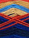 Vezelgehalte 100% Premium acryl, White, Red, Brand Ice Yarns, Camel, Blue Shades, fnt2-71177
