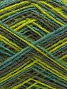 Fiber Content 75% Superwash Wool, 25% Polyamide, Turquoise, Light Green, Brand Ice Yarns, Grey, fnt2-71217