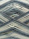 Vezelgehalte 50% Acryl, 50% Katoen, White, Brand Ice Yarns, Grey, Blue Shades, Yarn Thickness 2 Fine Sport, Baby, fnt2-71256