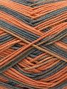 Vezelgehalte 50% Katoen, 50% Acryl, Orange, Brand Ice Yarns, Grey, Yarn Thickness 2 Fine Sport, Baby, fnt2-71258