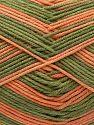 Vezelgehalte 50% Acryl, 50% Katoen, Orange, Brand Ice Yarns, Green, Yarn Thickness 2 Fine Sport, Baby, fnt2-71259