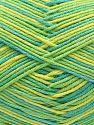 Vezelgehalte 50% Acryl, 50% Katoen, Turquoise, Brand Ice Yarns, Green Shades, Yarn Thickness 2 Fine Sport, Baby, fnt2-71262