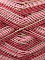 Vezelgehalte 50% Acryl, 50% Katoen, Pink Shades, Brand Ice Yarns, Beige, Yarn Thickness 2 Fine Sport, Baby, fnt2-71264
