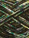 Contenido de fibra 5% Mohair, 35% Poliéster, 30% Acrílico, 15% De nylon, 15% Lana, White, Lilac, Brand Ice Yarns, Green, Gold, Blue, Black, fnt2-71289