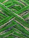 Contenido de fibra 50% Acrílico, 5% Metálicos Lurex, 20% Viscosa, 15% Poliéster, 10% Poliamida, White, Navy, Brand Ice Yarns, Green, Gold, fnt2-71293