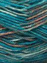 Fiber Content 100% Acrylic, Turquoise, Salmon, Light Grey, Brand Ice Yarns, fnt2-71502