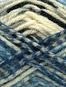 Fiber Content 50% Acrylic, 40% Wool, 10% Viscose, White, Light Grey, Brand Ice Yarns, Blue Shades, Black, fnt2-71511