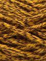 Fiber Content 50% Wool, 50% Acrylic, Brand Ice Yarns, Gold Shades, Dark Brown, fnt2-71519