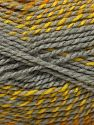 Fiber Content 90% Acrylic, 10% Wool, Brand Ice Yarns, Grey, Gold Shades, fnt2-71551