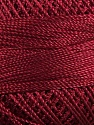 Fiber Content 100% Micro Fiber, Brand YarnArt, Burgundy, Yarn Thickness 0 Lace  Fingering Crochet Thread, fnt2-17315