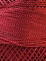 Fiber Content 100% Micro Fiber, Brand YarnArt, Red, Yarn Thickness 0 Lace  Fingering Crochet Thread, fnt2-17324