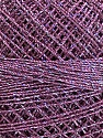 Fiber Content 70% Polyester, 30% Metallic Lurex, Brand YarnArt, Silver, Lilac, Yarn Thickness 0 Lace Fingering Crochet Thread, fnt2-17347