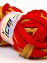 Fiber Content 100% Acrylic, Red, Brand ICE, Gold, Yarn Thickness 6 SuperBulky  Bulky, Roving, fnt2-22301