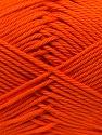 Fiber Content 100% Mercerised Cotton, Orange, Brand ICE, Yarn Thickness 2 Fine  Sport, Baby, fnt2-23326