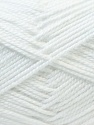 Fiber Content 100% Acrylic, White, Brand ICE, Yarn Thickness 2 Fine  Sport, Baby, fnt2-23780