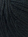 Fiber Content 40% Acrylic, 35% Wool, 25% Alpaca, Brand ICE, Black, Yarn Thickness 5 Bulky  Chunky, Craft, Rug, fnt2-25392